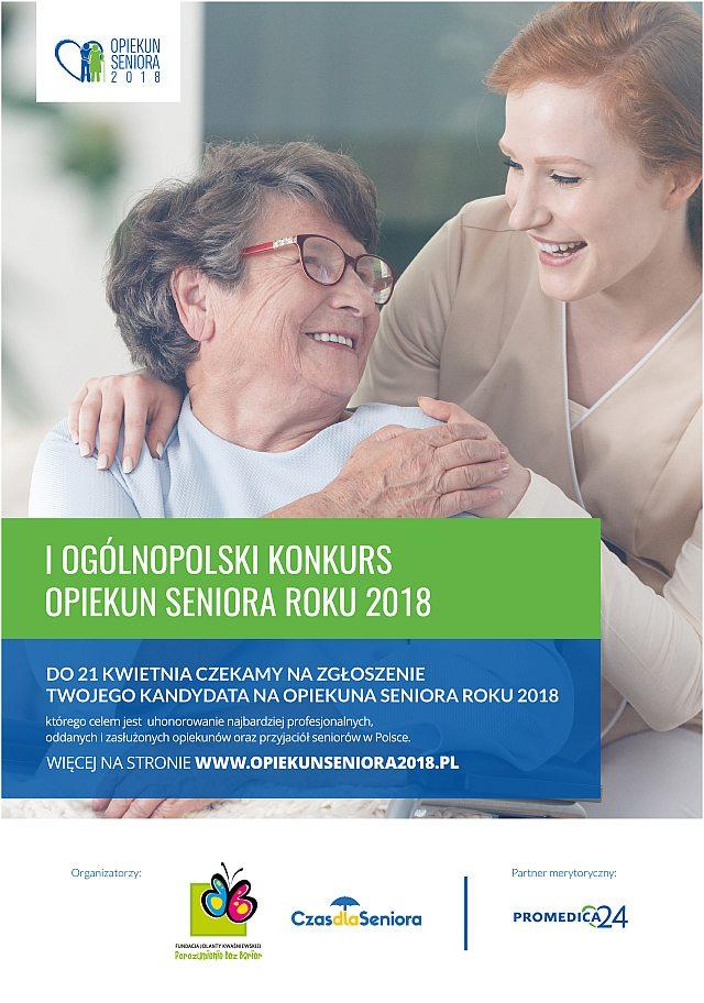 Szukamy najlepszych Opiekunów w konkursie ?Opiekun Seniora 2018?!